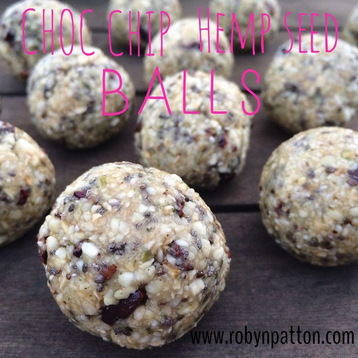 Chocolate Chip Hemp Seed Balls robynpatton.com