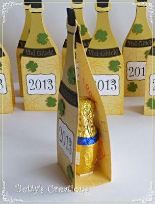Mitbringsel - Gastgeschenk - Silvester-Neujahr - Partybuffet - Buffet - Bettys-creations: Eierlikörfläschchen
