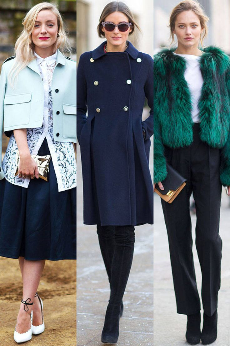 Street Style Fall 2014 Trends - Aqua, emerald & navy