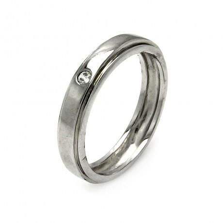 Metal: .925 Sterling Silver Finish: Nickel Free Rhodium Plated Stones: None Ring Measurement: 4mm width