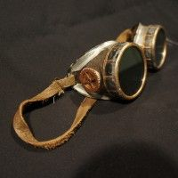 Easy cheap goggles to make. You'll have to order welding goggles online—they don't sell this kind in hardware stores, oddly enough.