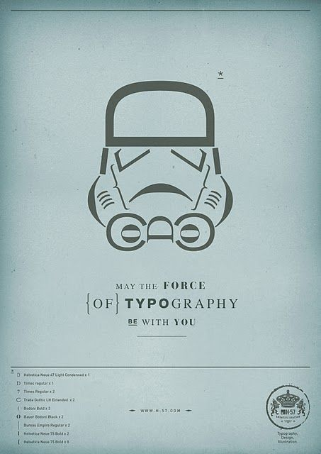 May the force (of typography) be with you.