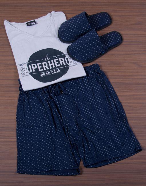 Modelo JHB0063 Pijama Hombre Men Sleepwear