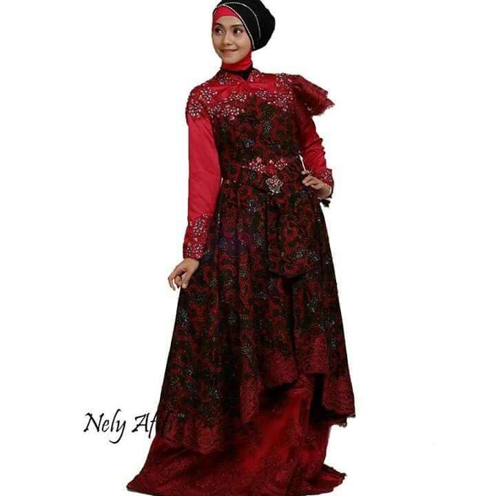 #weddingdress #muslimah #muslimahwedding #batik #batiktulis #gaunpengantin