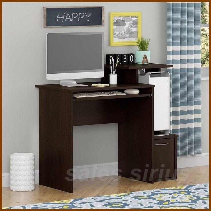 1000 ideas about small computer desks on pinterest desk with drawers computer desks and desk. Black Bedroom Furniture Sets. Home Design Ideas