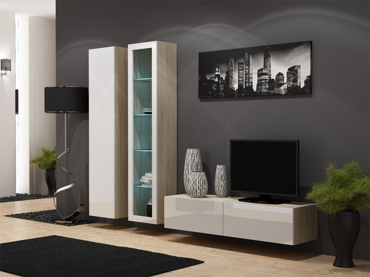 255 best TV wandmeubels images on Pinterest | Living room wall units ...