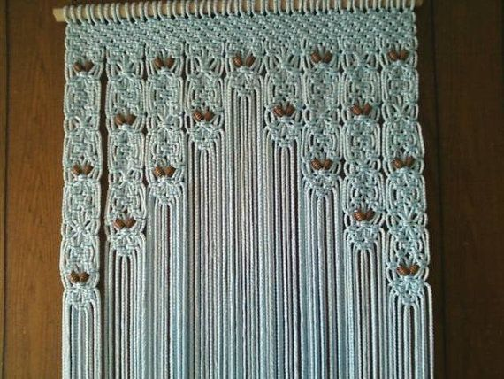 Door Decor Beaded Curtain Made in Macrame by craftflaire on Etsy, $218.80