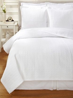 SFERRA Port O Call Quilt Set (White)