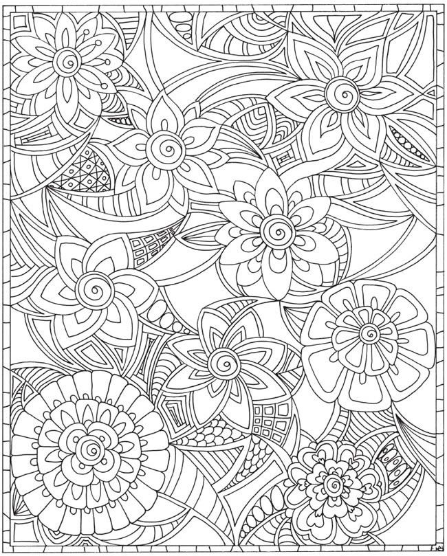 ESCAPES Joyful Gardens Coloring Book @ Dover Publications