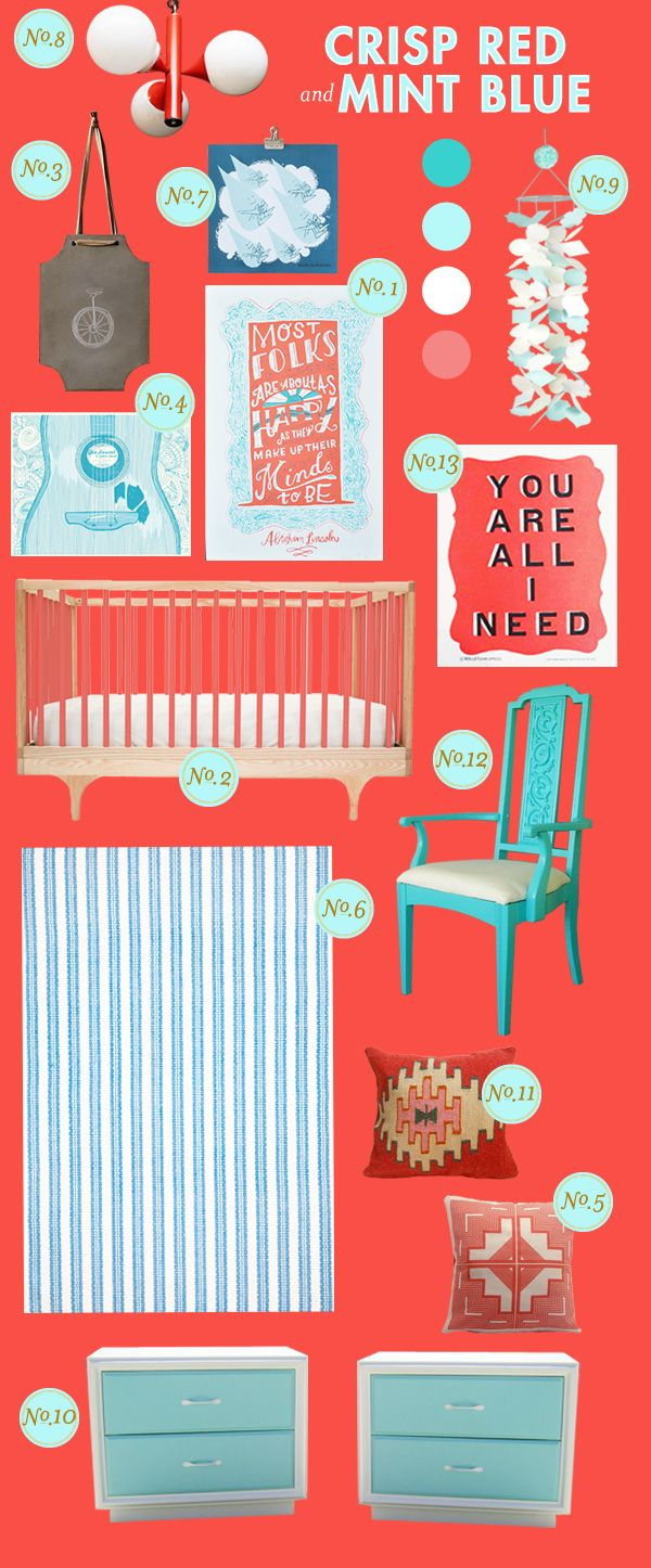 This is perfect! I already have the mint blue craft room that will be transformed into the baby's room so the rest of the transformation will be easy and gender neutral