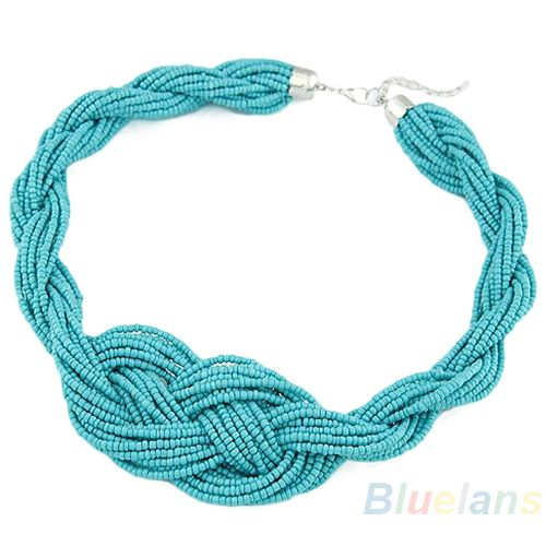 Women Bohemian Style Handmade Knotted Simple Beads Short Necklace 2013 New Fashion US $3.46
