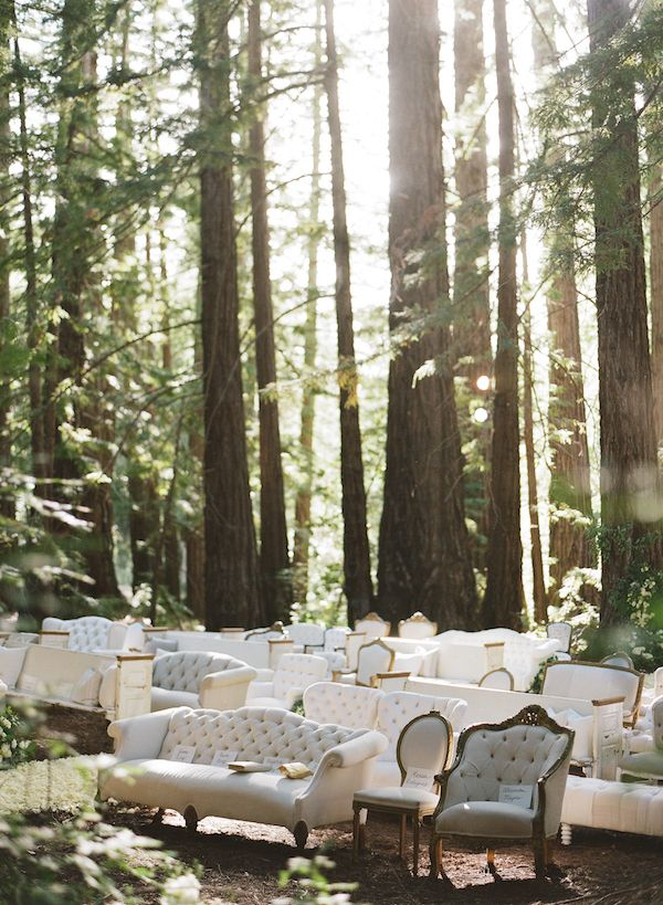 Ceremony Seating | Found Vintage Rentals #wedding #white #woodland  #upholstered #couches · Wedding Ceremony ChairsOutdoor ... - 316 Best {Sit Here} Images On Pinterest Birthdays, Wedding Decor
