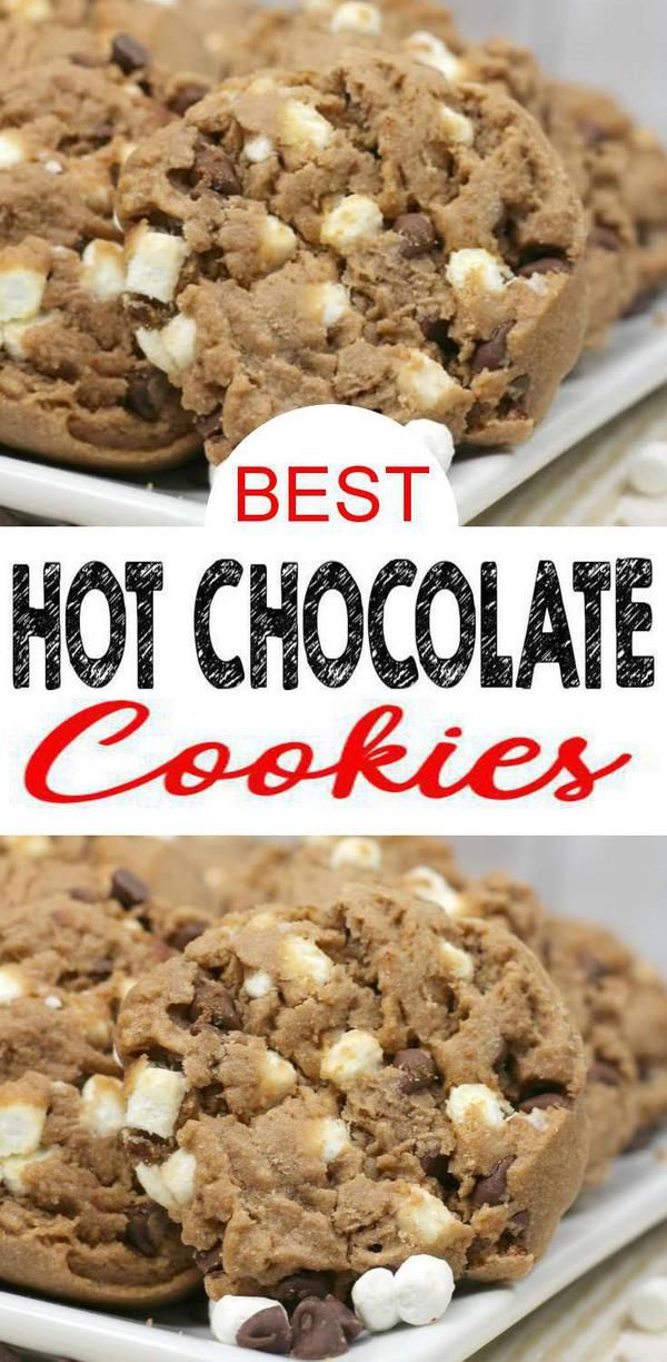 EASY Hot Chocolate Cookies! BEST Hot Chocolate Cookie Recipe – Simple Homemade Cookies – Dessert – Treat – Snacks – Birthday Parties