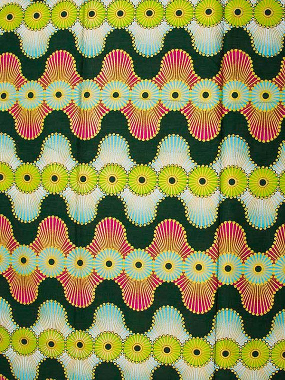 Wax Print Super Woodin African Fabric 6 Yards by Africanpremier
