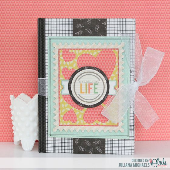 Decorated Notebook Using Paper Scraps