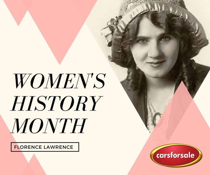 """Florence Lawrence, after witnessing one too many car accidents, invented the """"auto-signaling arms"""" and """"stop"""" indicator. These would evolve into modern turn signals and brake lights. Innovation runs in the family. She was the daughter of Charlotte Bridgewood, who invented and patented the automatic windshield wiper system. #WomensHistoryMonth"""