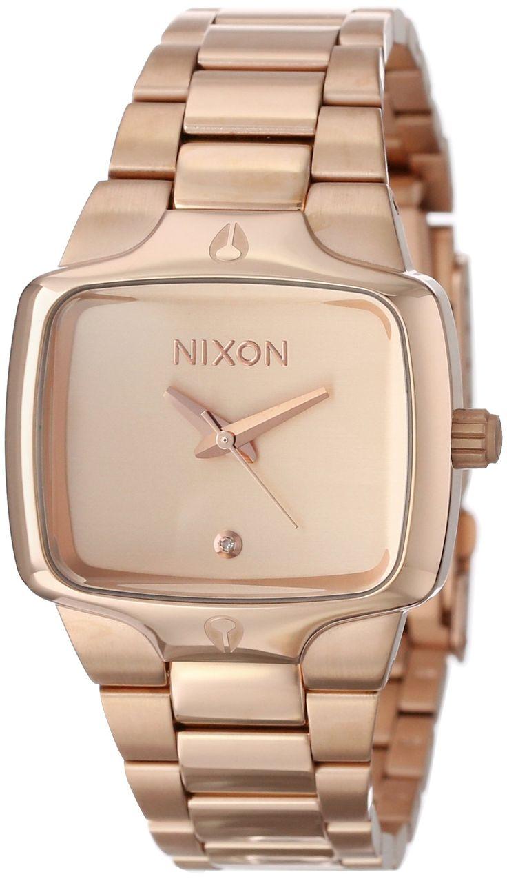 NIXON Women's NXA300897 Classic Analog Rectangle Dial Watch