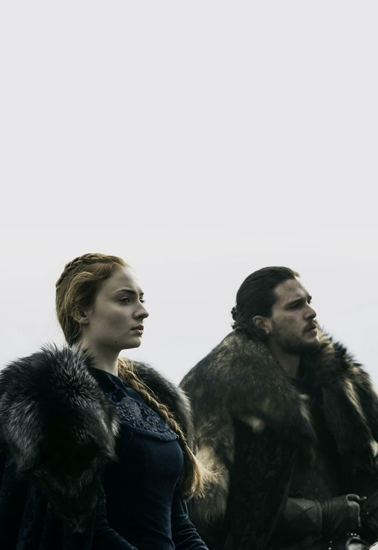 "Sophie Turner & Kit Harington - Game of Thrones 6.09 - ""Battle of the Bastards"""