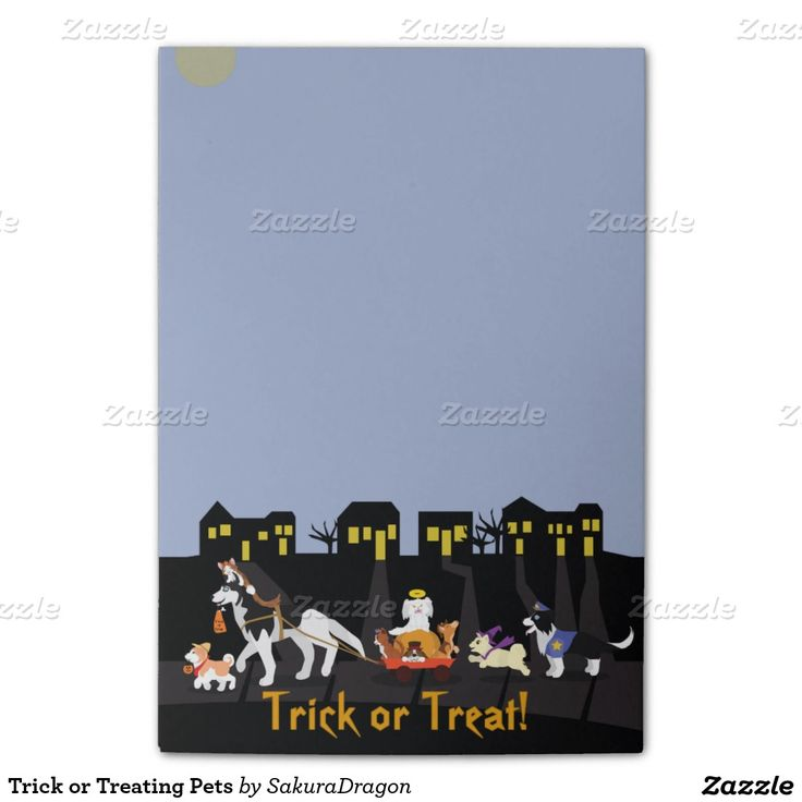 Trick or Treating Pets Post-it® Notes #Halloween #pets #dogs #cats #trickortreat