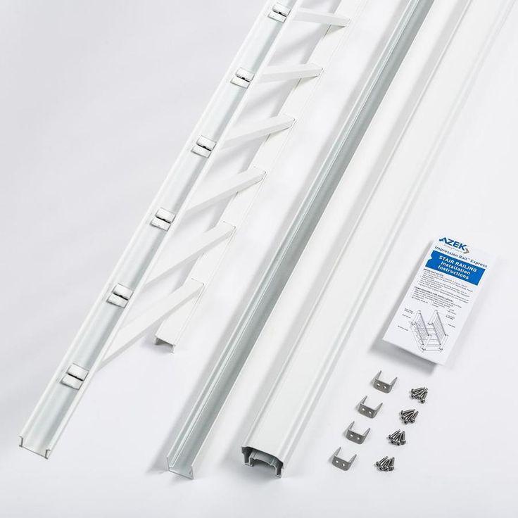 Best Timbertech Assembled 6 Ft X 3 Ft Imression Rail Express White Aluminum Deck Rail Kit With 400 x 300