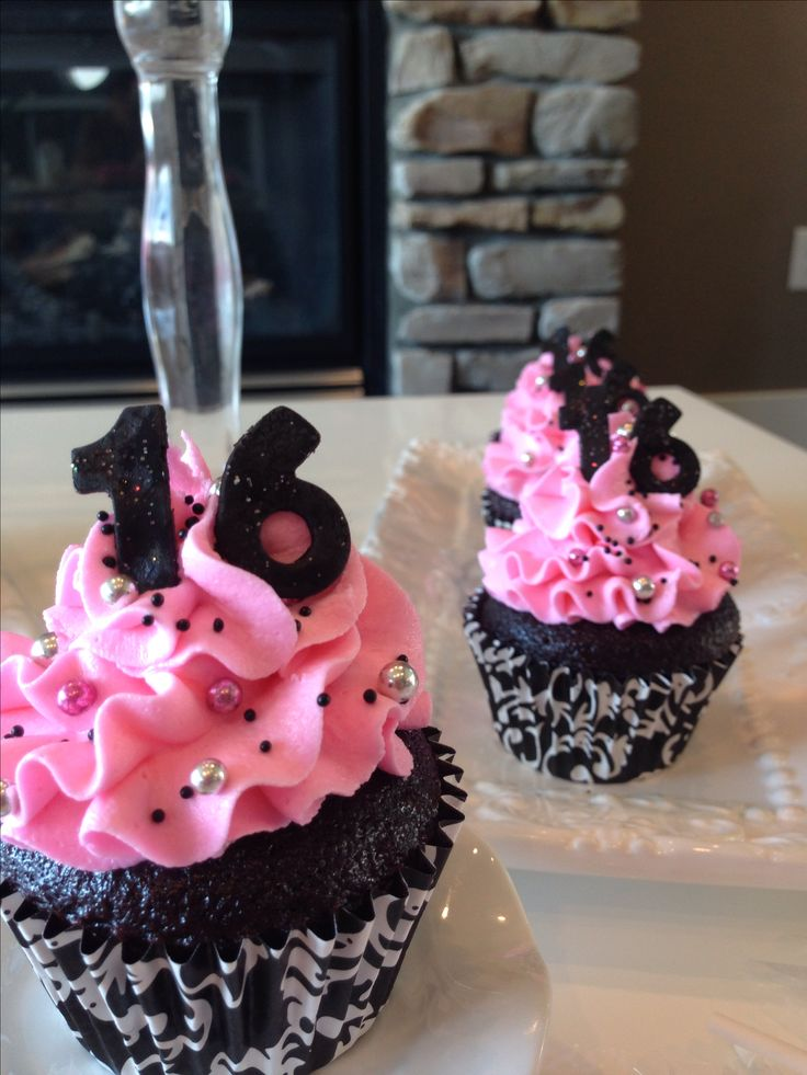 1000 Ideas About Sweet 16 Cupcakes On Pinterest Sweet