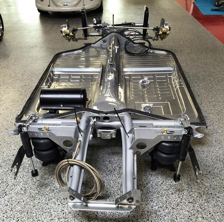 Chrome Clear Powdercoated Ghia Chassis Not Outfitted With