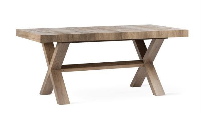 Tavolo in legno melaminico allungabile