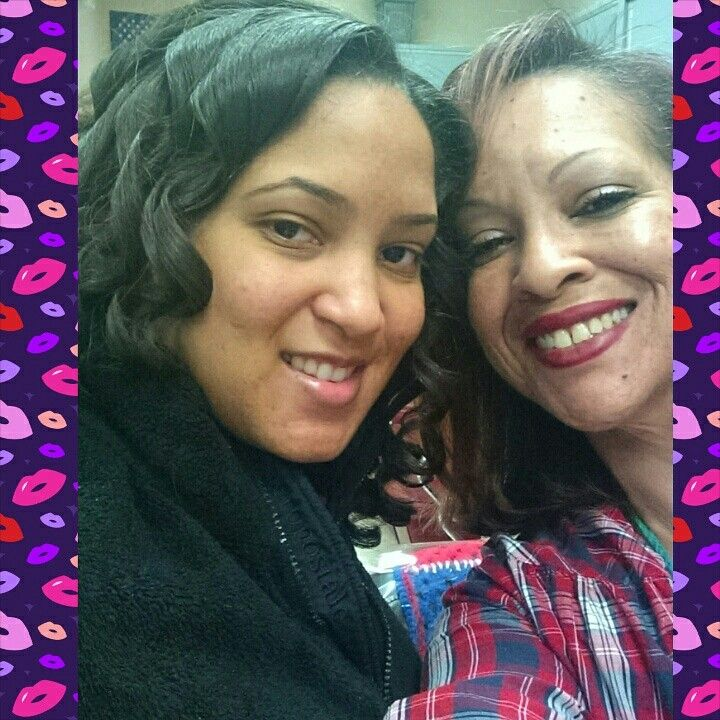 Me & my beautiful daughter  Shiniece after getting our hair done by Tarra (our beautiful & talented cousin)! Love it! Had a great mommy daughter day! 3.29.2015.