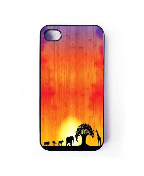 iphone 4 and 4s case, sunset iphone cover, iphone 4 and 4s cover, sunset case. $15.50, via Etsy. Lion King phone cover, I need this :D so cute!!