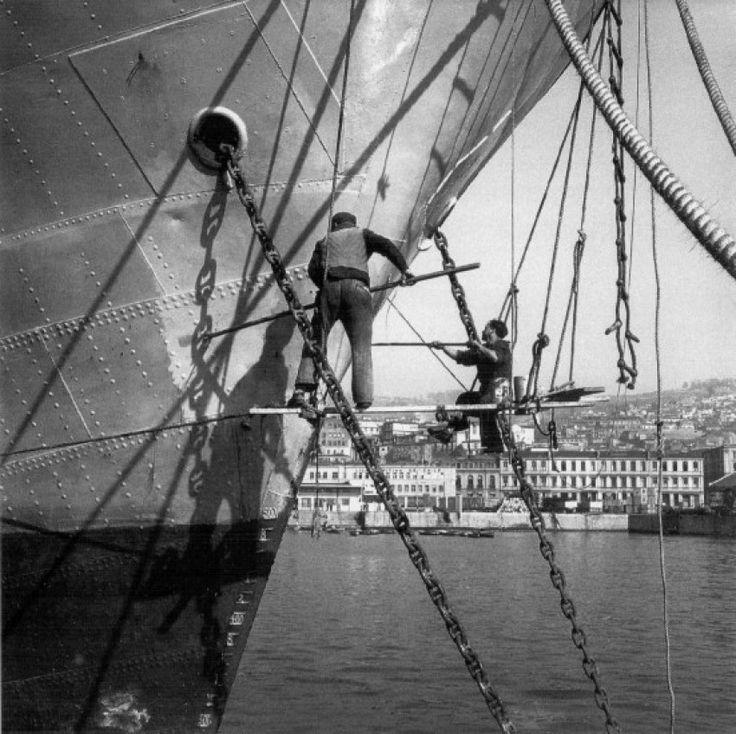 Maquillando Barcos Valparaiso 1954 MHN 3-40679