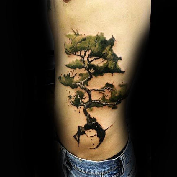 60 Bonsai Tree Tattoo Designs For Men