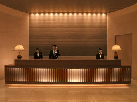 Elegant Timber Slats Counter