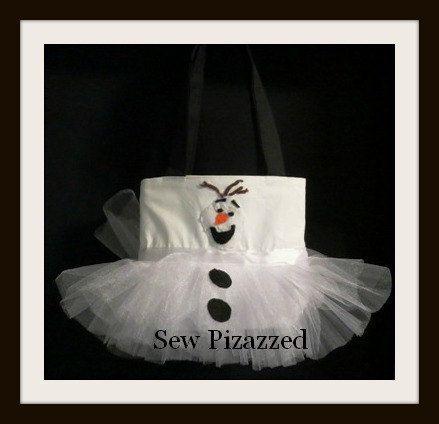 Disney Frozen Olaf Tutu Tote Bag by SewPizazzed on Etsy, $34.00