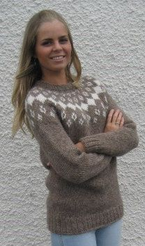 Hand knitted Icelandic sweater January. Free shipping!