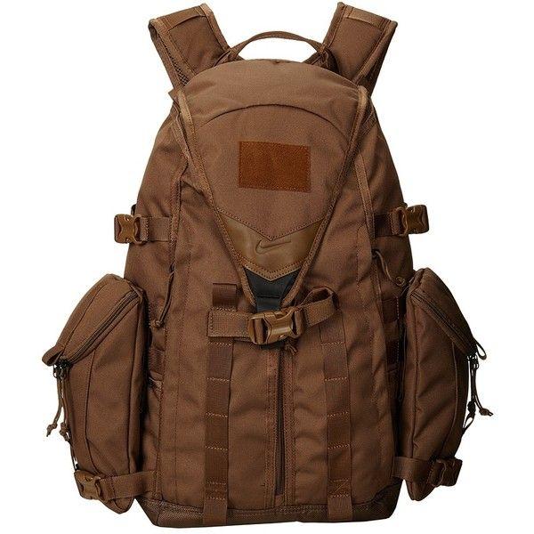 Nike SFS Responder Backpack (Military Brown/Military Brown/Military... (245 CAD) ❤ liked on Polyvore featuring bags, backpacks, military backpacks, brown backpack, nike tote bag, brown tote handbags and military style backpack