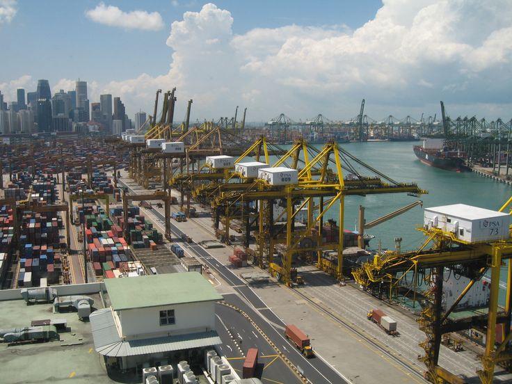Cranes at Port of Singapore