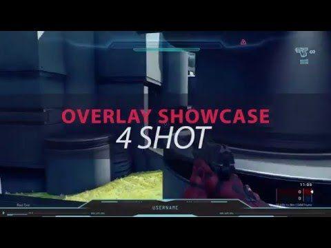 Halo 5 Twitch Overlay Template - 4 Shot Showcase