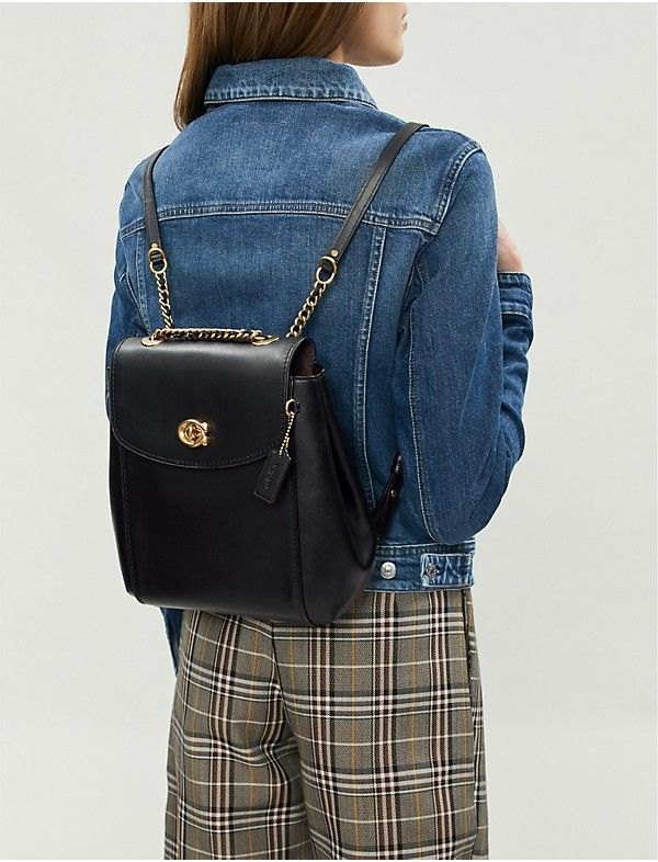 bb786897559b Parker leather backpack in 2019