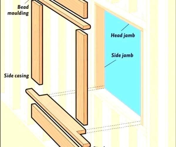 Replace Exterior Door Trim Installing Window Trim Medium Size Of