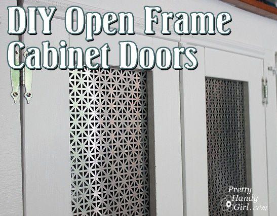 Creating Open Frame Radiator Screen Cabinet Doors - Pretty Handy Girl