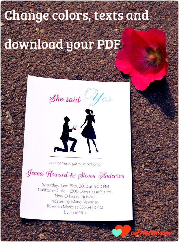 30 best images about Engagement Ideas – Engagement Invitation Cards Templates