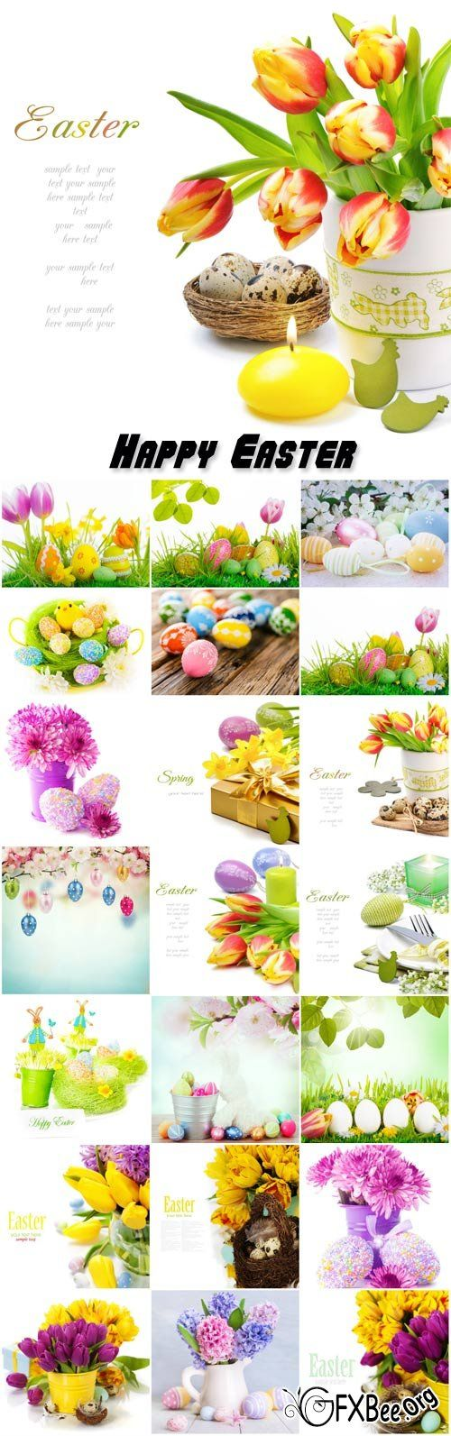 Happy Easter, background Easter compositions