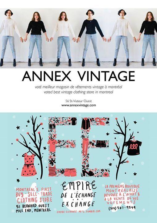 Annex Vintage, boutique vintage, excellente et plein de belles choses, 56 st viateur ouest