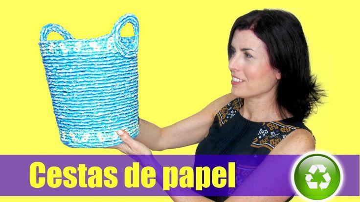 DIY Cestas de papel periódico. Newspaper baskets.