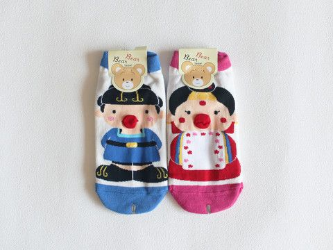 cute korean hanbok socks - set of 2