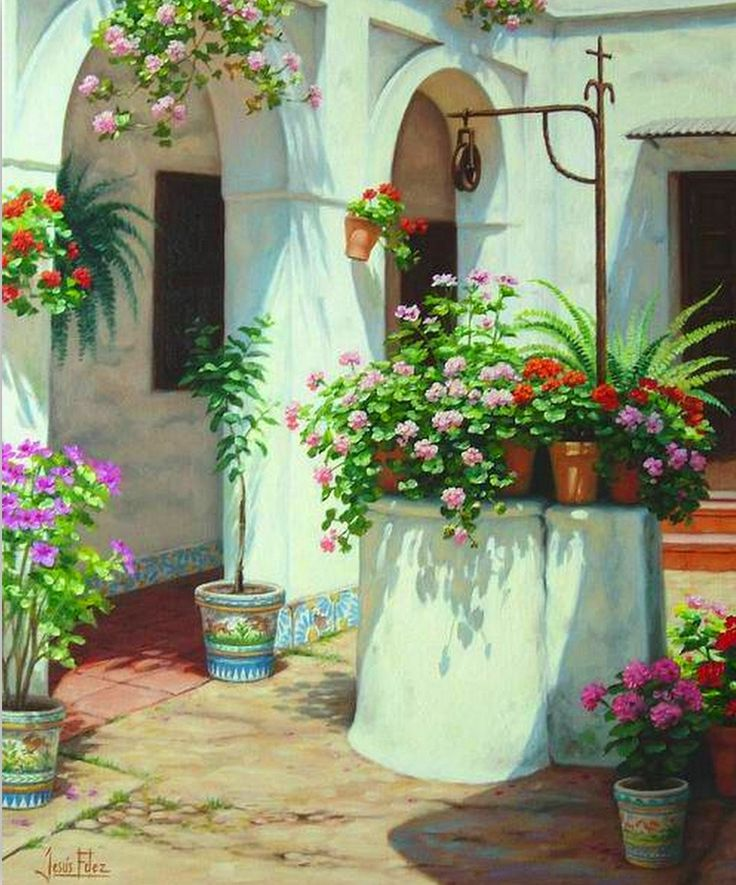 17 best images about pinturas al oleo on pinterest - Oleos de jardines ...