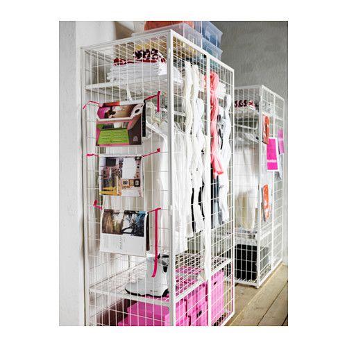 ИКЕА ПС 2014 Гардероб IKEA Создайте собственный дизайн гардероба, украсив металлический каркас разноцветными декоративными пластинами.