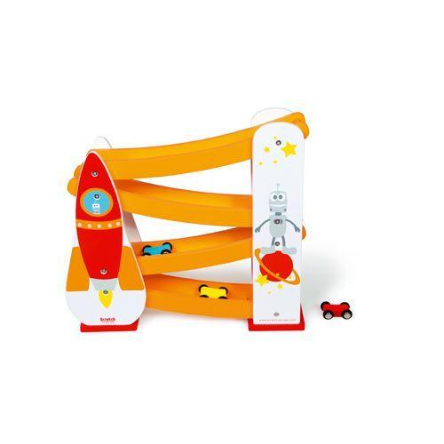 Scratch - Zjeżdżalnia dla Samochodów Rakieta / ZABAWKI - Zabawki oraz akcesoria dla dzieci i rodziców.