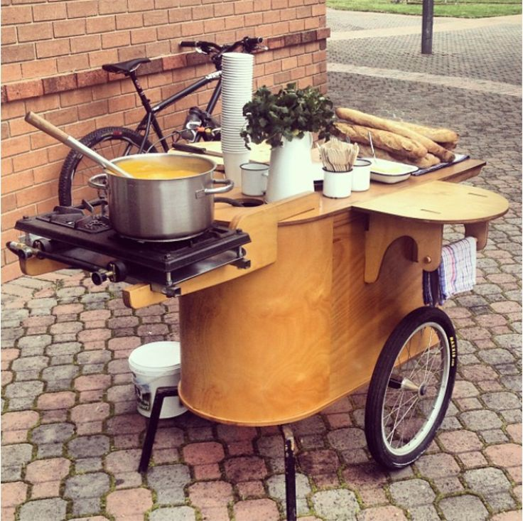 Food Inspiration  from anteat on instagram. could work as a mobile kitchen for the schoolbus works
