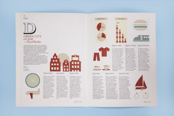 MONOCLE MAGAZINE by Chantal le Roux, via Behance